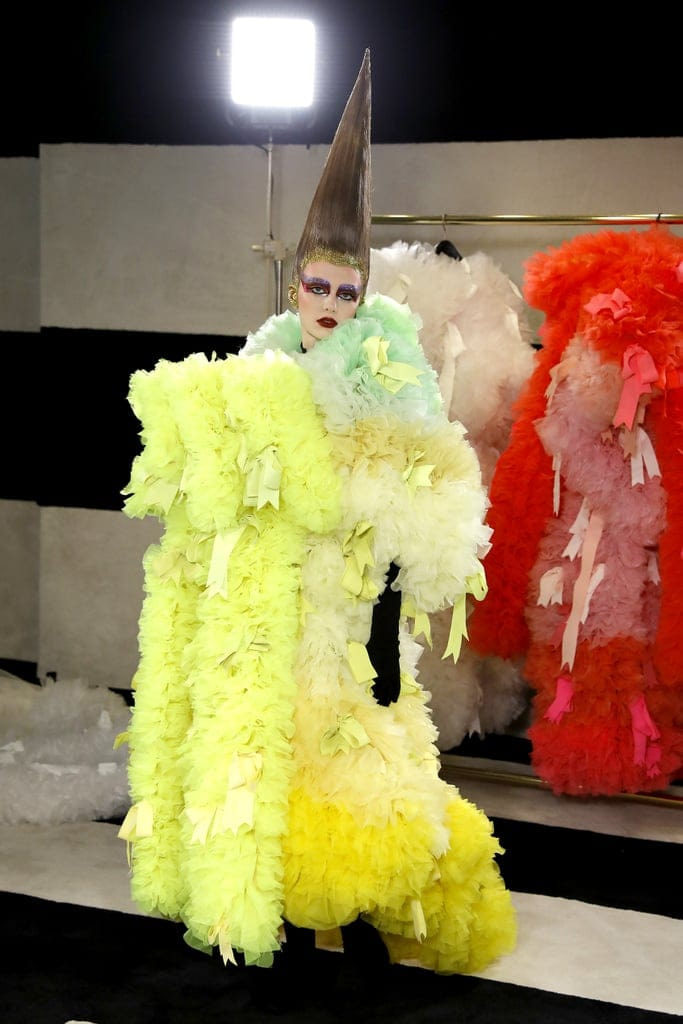 These Rainbow-Colored Gowns From NYFW Have Lady Gaga Written All Over Them