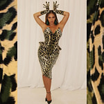 Beyoncé Might've Played a Lion This Year, but Her Holiday Party Look Is All Leopard